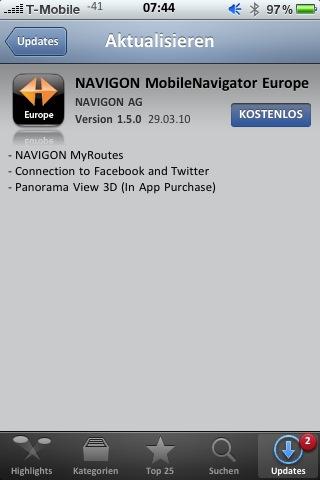 Kostenlose updates navigon